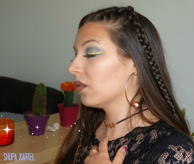 coachella makeup look braids